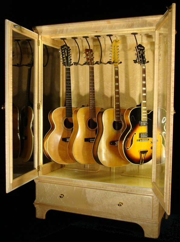 Genial Access N Sight   Guitar Display Case Cabinets