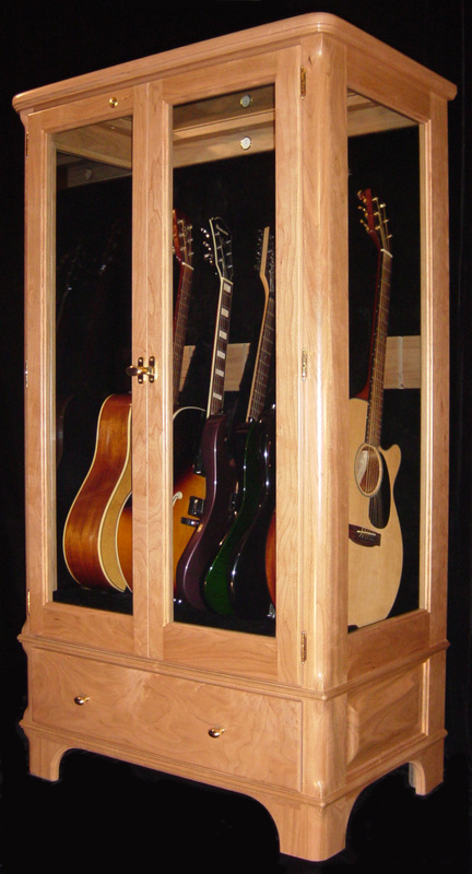 Delightful Guitar Display Case Cabinets. Signature Design, Natural Beauty! Picture