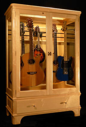 Beau Access N Sight   Guitar Display Case Cabinets   Home